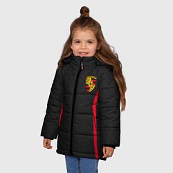 Куртка зимняя для девочки Porsche: Sport Edition цвета 3D-черный — фото 2