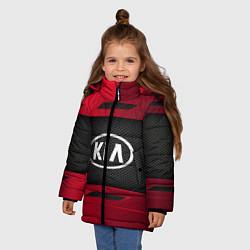 Куртка зимняя для девочки KIA Collection цвета 3D-черный — фото 2