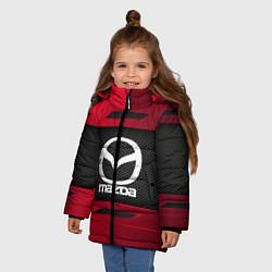 Детская зимняя куртка для девочки с принтом Mazda Sport, цвет: 3D-черный, артикул: 10152931906065 — фото 2