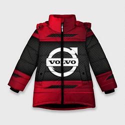 Куртка зимняя для девочки Volvo Sport цвета 3D-черный — фото 1