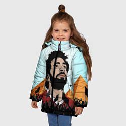 Куртка зимняя для девочки Salah: Egypt King цвета 3D-черный — фото 2