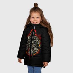 Куртка зимняя для девочки Berserk Devils цвета 3D-черный — фото 2