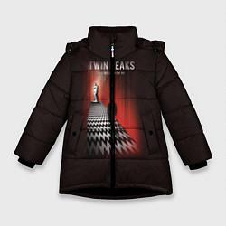 Куртка зимняя для девочки Twin Peaks: Firewalk with me цвета 3D-черный — фото 1
