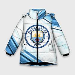 Куртка зимняя для девочки Manchester city цвета 3D-черный — фото 1