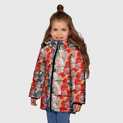 Куртка зимняя для девочки Истинные фанаты России цвета 3D-черный — фото 2