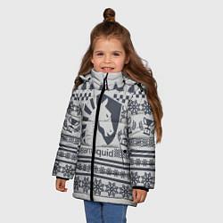 Куртка зимняя для девочки Team Liquid: Grey Winter цвета 3D-черный — фото 2
