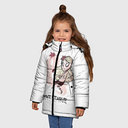 Куртка зимняя для девочки Don't Starve: Wendy цвета 3D-черный — фото 2