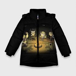 Куртка зимняя для девочки Don't Starve campfire цвета 3D-черный — фото 1