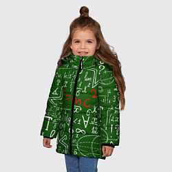 Куртка зимняя для девочки E=mc2: Green Style цвета 3D-черный — фото 2