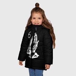 Куртка зимняя для девочки Drake 6IX цвета 3D-черный — фото 2