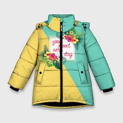 Куртка зимняя для девочки Good Mood Every Day цвета 3D-черный — фото 1