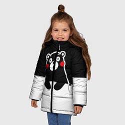 Детская зимняя куртка для девочки с принтом Kumamon Surprised, цвет: 3D-черный, артикул: 10162547706065 — фото 2