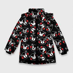 Куртка зимняя для девочки Kumamon Faces цвета 3D-черный — фото 1