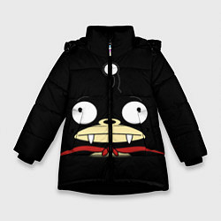 Куртка зимняя для девочки Лицо Ниблера цвета 3D-черный — фото 1
