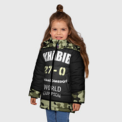 Куртка зимняя для девочки Khabib: 27 - 0 цвета 3D-черный — фото 2
