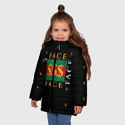 Куртка зимняя для девочки FACE GG Style цвета 3D-черный — фото 2