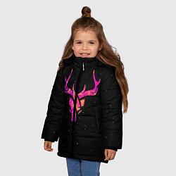 Куртка зимняя для девочки Neon Deer цвета 3D-черный — фото 2