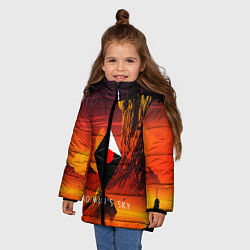 Куртка зимняя для девочки No Man's Sky: Red Dust цвета 3D-черный — фото 2