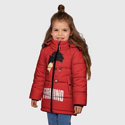 Куртка зимняя для девочки Firmino цвета 3D-черный — фото 2