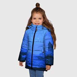 Куртка зимняя для девочки Death Stranding: Blue Heaven цвета 3D-черный — фото 2