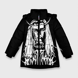 Куртка зимняя для девочки Ghostemane: Devil цвета 3D-черный — фото 1