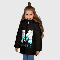Детская зимняя куртка для девочки с принтом MONSTA X, цвет: 3D-черный, артикул: 10170154506065 — фото 2