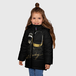Детская зимняя куртка для девочки с принтом Daft Punk: Get Lucky, цвет: 3D-черный, артикул: 10171252906065 — фото 2