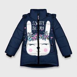 Куртка зимняя для девочки Sweet Bunny цвета 3D-черный — фото 1