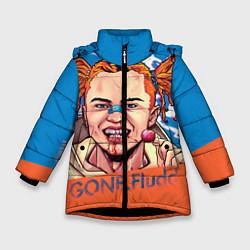 Куртка зимняя для девочки Gone Fludd art цвета 3D-черный — фото 1