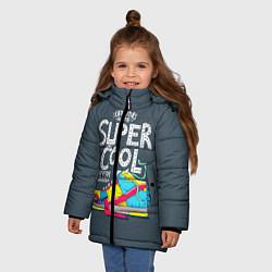 Куртка зимняя для девочки Super Сool цвета 3D-черный — фото 2