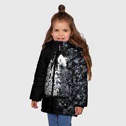 Куртка зимняя для девочки JoJo цвета 3D-черный — фото 2