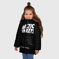 Куртка зимняя для девочки Arctic Monkeys: Do i wanna know? цвета 3D-черный — фото 2