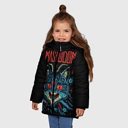 Куртка зимняя для девочки Mastodon: Demonic Cat цвета 3D-черный — фото 2