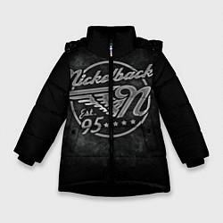 Куртка зимняя для девочки Nickelback Est. 1995 цвета 3D-черный — фото 1
