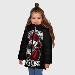 Куртка зимняя для девочки Brooklyn Style цвета 3D-черный — фото 2