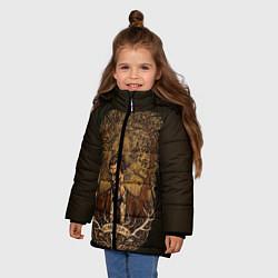 Куртка зимняя для девочки True Detective: Carosa цвета 3D-черный — фото 2