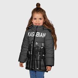 Куртка зимняя для девочки Kasabian: Boys Band цвета 3D-черный — фото 2
