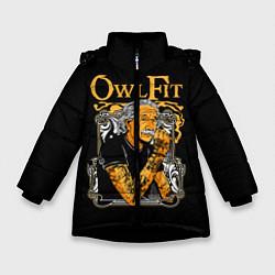 Куртка зимняя для девочки Owl Fit цвета 3D-черный — фото 1