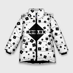 Куртка зимняя для девочки Roblox Pattern цвета 3D-черный — фото 1