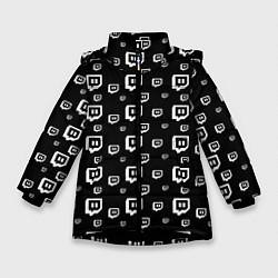 Куртка зимняя для девочки Twitch: Black Pattern - фото 1