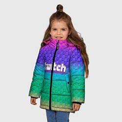 Куртка зимняя для девочки Rainbow Twitch - фото 2