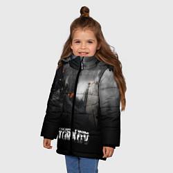 Куртка зимняя для девочки Escape from Tarkov цвета 3D-черный — фото 2