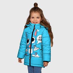 Куртка зимняя для девочки Fairy Tail: Happy цвета 3D-черный — фото 2