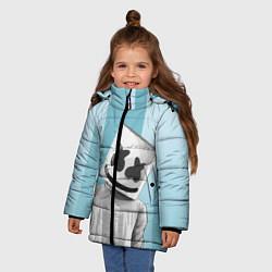Куртка зимняя для девочки Marshmello цвета 3D-черный — фото 2