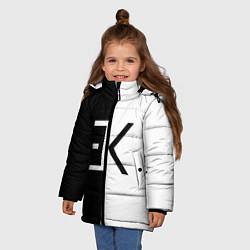 Куртка зимняя для девочки Егор Крид: ЕК цвета 3D-черный — фото 2