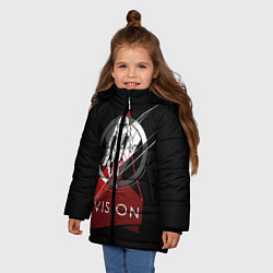 Куртка зимняя для девочки Vision цвета 3D-черный — фото 2
