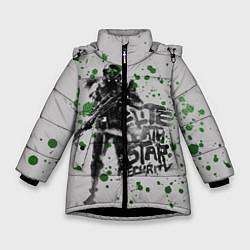Куртка зимняя для девочки Death Star Security цвета 3D-черный — фото 1