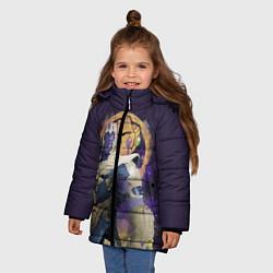 Куртка зимняя для девочки Thanos Abstract цвета 3D-черный — фото 2