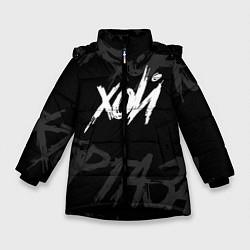Куртка зимняя для девочки Сектор Газа - ХОЙ цвета 3D-черный — фото 1