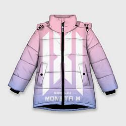 Детская зимняя куртка для девочки с принтом Monsta X, цвет: 3D-черный, артикул: 10187558906065 — фото 1